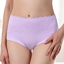 No la cintura de encaje de algodon marca Briefs ropa interior dama en algodon caderas abdomen,Xl,B