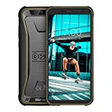 Blackview BV5500Pro Télephone Portable Incassable, Écran 5.5 Pouces 18:9, Android 9.0,16Go ROM+3Go RAM, Batterie 4400mAh, 4G Dual SIM Smartphone Résistant Etanche, Caméras 8MP+5MP NFC/Gyroscope/GPS