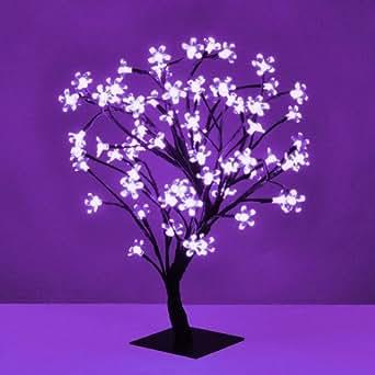 Decorative Black Bonsai Style Tree Light with 72 Purple LED's - 45cm