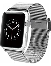 YISUYA Apple Watch Pulsera de banda de malla de acero inoxidable correa de pulsera para Apple reloj 42mm