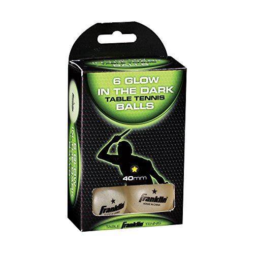 Franklin Sports 1 Star Tischtennisbälle, 40 mm, 6 Stück, Glow In Dark, 40 mm (Glow In The Dark Dog Toy)