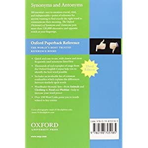 Oxford Dictionary of Synonyms & Antonyms 3rd Edition (Diccionario Oxford Synonyms Antonyms)