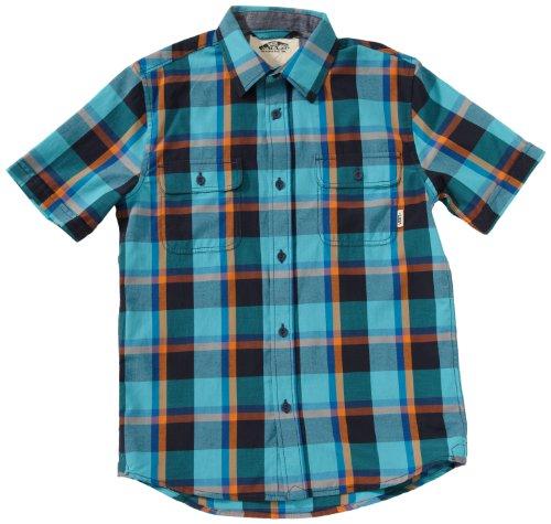 Vans Averill - Camicia da uomo a maniche corte, multicolore  (Multi-Coloured - bluebird), M