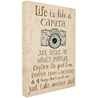 Stupell Industries The Home Decor Collection Life is Like A Camera Inspirational Oversized Stretched Canvas Wall Art, 24 x 1.5 x 30, Proudly Made in USA, Fabric, Multi-Colour, 24 x 1.5 x 30 cm preiswert