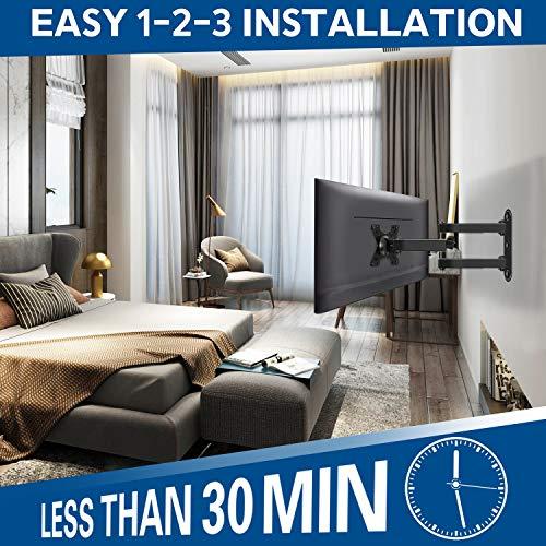 Mounting Dream MD2463-02 TV Monitor Wandhalterung für die meisten 10-26 Zoll LED, LCD Flachbildschirm TV und Monitore, mit Schwenkbar Gelenkarm, bis VESA 100 x 100 mm und 15 kg - 4