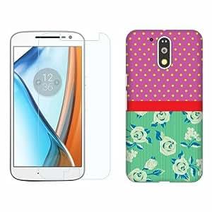 Printland Tempered Glass + Back Cover Combo For Motorola Moto G4 Plus