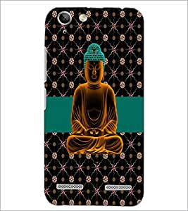 PrintDhaba Lord Buddha D-5084 Back Case Cover for LENOVO A6020a46 (Multi-Coloured)