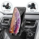 Mpow Handyhalterung Auto Lüftung,Lüftung AutoHandyhalterung,3 einstellbare Modi KFZ smartphone halterung Lüftung,Voller Silikonschutz,Ein-Knopf-Schlüsselfreigabe,Handyhalter für auto für iPhone Galaxy