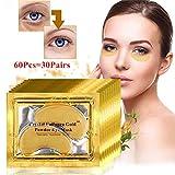 GARYOB Golden Augenpads Augen Maske Anti Wrinkle Bags Ageing Pad Moisturiser mit Hyaluronsäure und Collagen gegen Augenringe und Fältchen Under Eye Patches Collagen Maske (30 Paar)