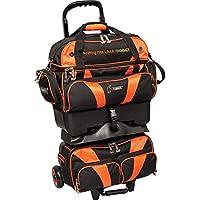 Hammer Premium - Bolsa de bolos apilable de 4 bolas, color negro/naranja, tamaño talla única