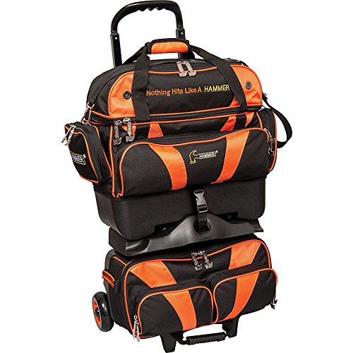 Hammer Premium 4-ball stapelbar Bowling Bag schwarz/orange