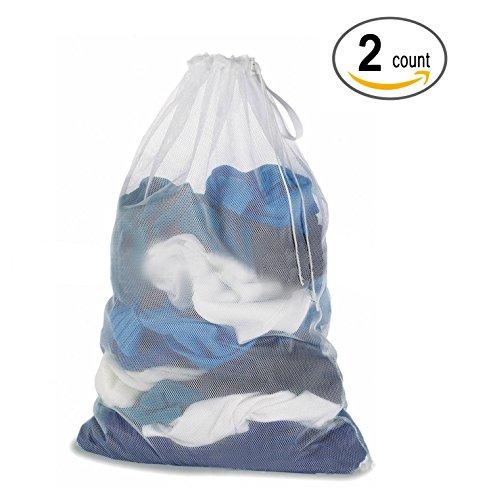 Bolsas para la colada, Dahama Bolsa de lavandería de malla lavado ropa bolsas - para lavadoras - 60 x 90 cm, 2 Pcs