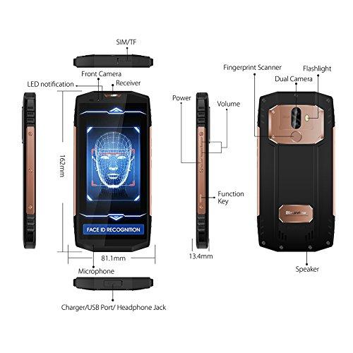 Smartphone Antigolpes  Blackview BV9000 Pro M  vil Resistente 6GB RAM 128GB ROM  5 7    FHD 18 9 Pantalla 13MP   5MP Dual C  mara Trasera  Android 7 1