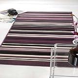 Rugs With Flair Teppich Element Canterbury - gestreift - Violett/Schwarz - 120 x 160 cm