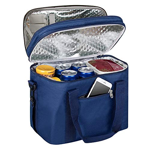 092b95ebcc DENUONISS 18L Cooler Bag Waterproof Oil-Proof Lining Durable Collapsible  Insulated Portable Lunch Bag Picnic Bag for Picnic, Camping, Beach, ...