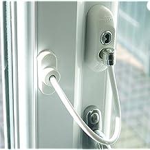 Max6mum de seguridad para ventanas y cierre de puerta para bebé y Seguridad Infantil–Blanco