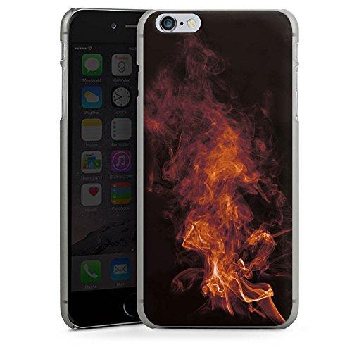 Apple iPhone 4 Housse Étui Silicone Coque Protection Flamme Fumée Fumée CasDur anthracite clair