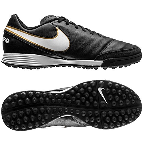 Nike Tiempo Genio Leather II Multinocken Fußballschuhe Black