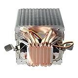 Tutoy 6 Heat Pipes Blue Led Cpu Kühlung Lüfter Kühler Kühlkörper Für Intel Lag 1155 1156 Amd Sockel Am3/Am2