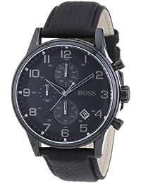 Hugo Boss Herren-Armbanduhr Analog Quarz Leder 1512567