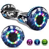GeekMe Gyropode 6.5 Pouces Électrique Scooter Auto-équilibré Bluetooth Intégré Lampes LED Coloré Clignotantes aux Roues
