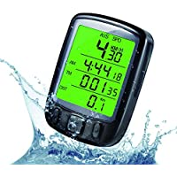 ZHUOTOP Bike Speedometer Waterproof LCD Display Multifunctional Bicycle Computer Odometer With Green Backlight