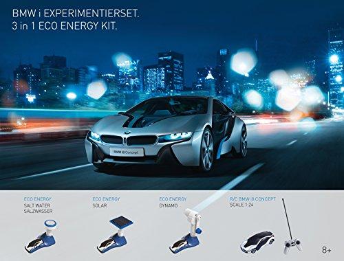 EDU Toys Original BMW i8 3in1 Energie Experimentierset plus 1:24 RC i8 Concept