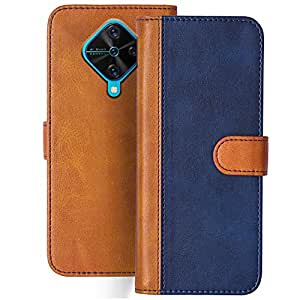 Knotyy Faux Leather Flip Cover for Vivo S1 Pro with Foldable Stand & Cards Slots - Multicolor