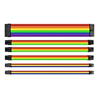 Thermaltake TtMod Sleeve Extension Power Supply Cable Kit ATX/EPS/8-pin PCI-E/6-pin PCI-E with Combs, Rainbow Combo AC-049-CNONAN-A1