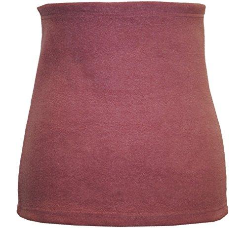 Belldessa 3 in 1 : Fleece - Nierenwärmer Frau XXXL Uni Altrosa pink Shirt Verlängerer / modisches Accessoire