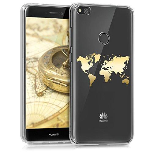 kwmobile Huawei P8 Lite (2017) Hülle - Handyhülle für Huawei P8 Lite (2017) - Handy Case in Gold Transparent