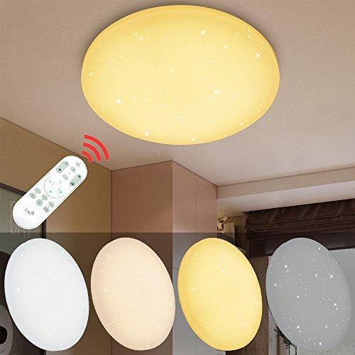VINGO® 60W LED Deckenleuchte Dimmbar Wohnzimmerlampe Mordern Wohnzimmer Deckenbeleuchtung Badezimmer geeignet IP44 Schlafzimmer Sparsame Dauerbeleuchtung