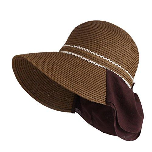 Chapeau De Soleil Le Printemps Et L'été Les Dames Un Grand Chapeau De Paille à Larges Bords Chapeau De Plage Chapeau Tourisme Dôme Chapeau brown