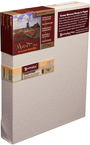 Masterpiece Monet PRO 1-1/2 Deep, 8 x 10 Inch, Raw Unprimed No. 12 Heavy Cotton Canvas by Masterpiece Artist Canvas - Monet 8x10