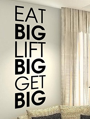 Preisvergleich Produktbild spb87 EAT Big Lift Big Get Big - Bewegung Dance Gesundheit Training Workout Motivation Gym Fitness Herz Life Family Love House zusammen Zitate Wand Vinyl Aufkleber Aufkleber Art Decor DIY