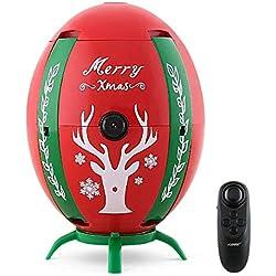 REDPAWZ H66 Mini Drone de Huevo de Navidad con Cámara para Niños 720P WiFi FPV Selfie Drone con Sensor de Gravedad Transmisor de Altitud Modo de Retención RC Quadcopter RTFF (Rojo)