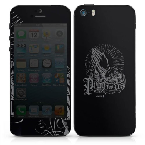Apple iPhone 3Gs Case Skin Sticker aus Vinyl-Folie Aufkleber Hände Beten Joker - Pray for us DesignSkins® glänzend