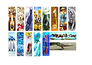 15 assorted 3D BOOKMARKS