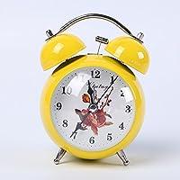 FACAIG campana de alarma alarma de metal de color creativos moda dormitorio estudiantil despertador,amarillo