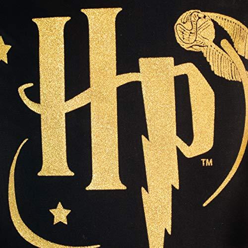 51RBWPw9swL - Harry Potter Bañador para Niña Negro 11-12 Años
