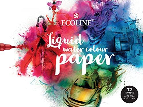 Ecoline Papier 24x32cm, Block mit 12 Blatt, 1-seitig verleimt, Aquarellpapier, Zeichenpapier