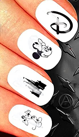 CHRISTMAS NAIL ART SET STICKERS DECALS WATER TRANSFERS. XMAS SEASONAL HOLIDAYS CUTE DISNEY CLASSIC GOOFY CASTLE MICKEY MOUSE MINNIE MOUSE ! CAN BE USED WITH NATURAL GEL ACRYLIC STICK ON NAILS! USE WITH GLITTER DUST CAVIAR BEADS ALLOYS DECORATIONS CONFETTI FIMO SHAPES TAPE PENS RHINESTONES!