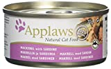 Applaws Cat Tin Mackerel with Sardine, 70 g, Pack of 24