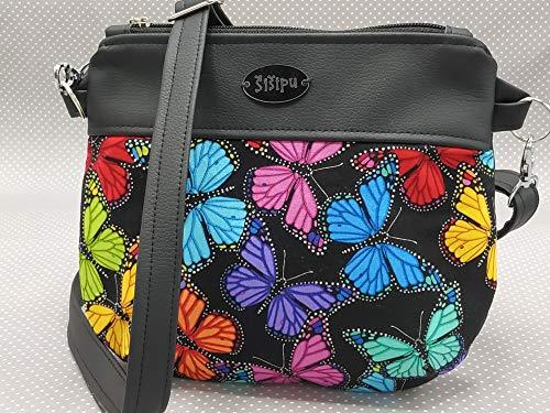 Cross Body Tasche, Schultertasche, Cross Body Bag Schmetterlinge