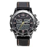 Adisaer Uhr Herren Wasserdicht Wasserdicht Herrenuhr Multifunktional Gold Outdoor Sportuhr Armbanduhr Automatikuhr