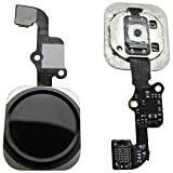 iPhone 6 & 6 Plus Home Button Homebutton mit Fingersensor Flexkabel Schalter Komplett Schwarz - ToKa-Versand®