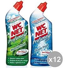 WC Net Juego 12 profumoso Gel 700 ml.