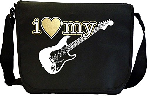 Electric Guitar I Love My - Sheet Music Document Bag Musik Notentasche MusicaliTee Smith Slider