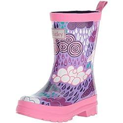 HatleyPrinted Rain Boots - Botas de Agua de Trabajo Chica, Color Morado, Talla 31