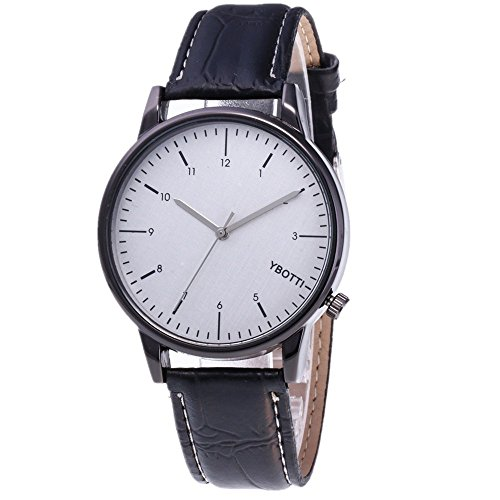 Mens Watches Sale Clearance,Men's Watches,Couple Fashion Leather Band Analog Quartz Round Wrist Business Wrist Watches